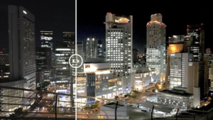 【簡単に変わる!】iPhoneで撮った夜景を簡単に編集する方法