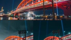 ミラーレスと高級コンデジで撮った夜景はブログ上で判断可能か??